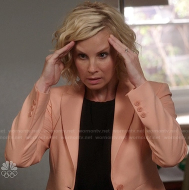 Kristina's peach blazer on Parenthood