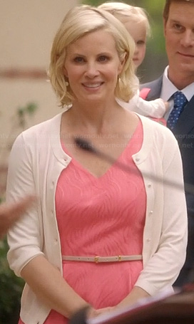 Kristina's pink v-neck dress on Parenthood