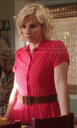 Kristina's red eyelet shirtdress on Parenthood