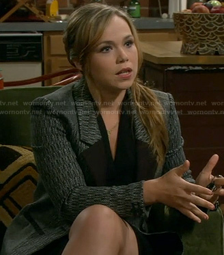 Kristin's grey and black patterned blazer on Last Man Standing
