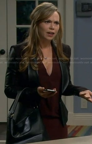 Kristin's leather blazer on Last Man Standing