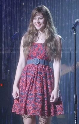 Layla's red lace dress on Nashville