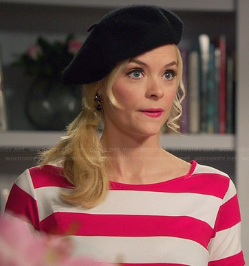 Lemon's red and white striped t-shirt dress on Hart of Dixie