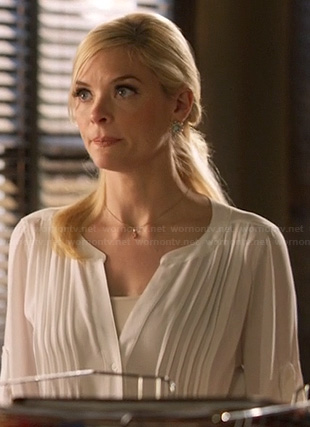 Lemon's white pleated blouse on Hart of Dixie