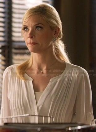 Lemon's white pleated blouse on Hart of Dixie
