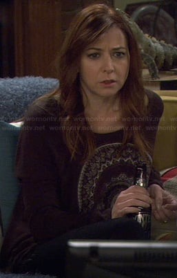 Lily's black circle graphic sweater on How I Met Your Mother