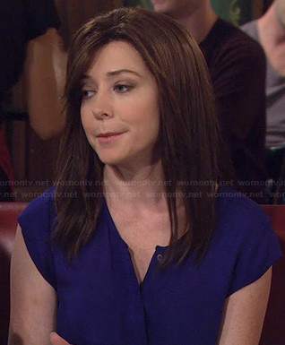 Lily's blue short sleeve blouse on HIMYM