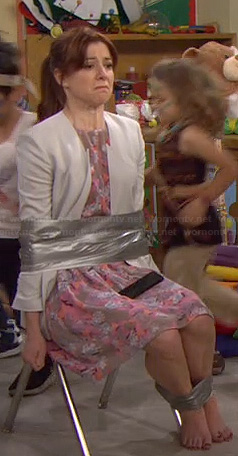 Lilly's pink floral dress on HIMYM