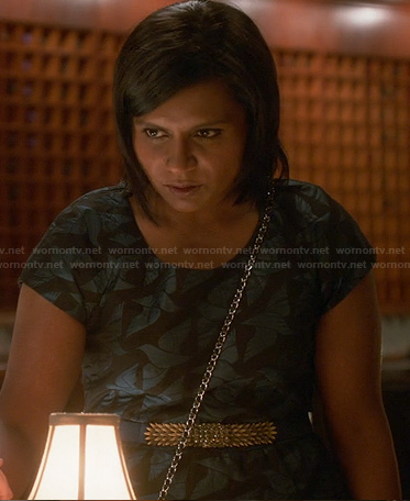 Mindy's bird print dress on her date with Morgan on The Mindy Project