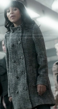 Olivia's grey tweed double breasted coat on Scandal