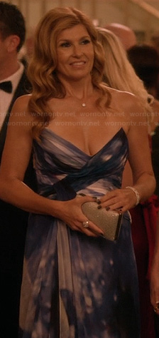 Rayna's blue strapless gown on Nashville