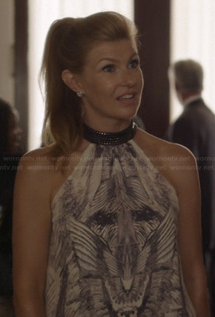 Rayna's wing sketch graphic halter top on Nashville