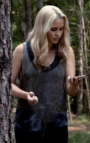 Rebecca's mesh tank top on The Originals