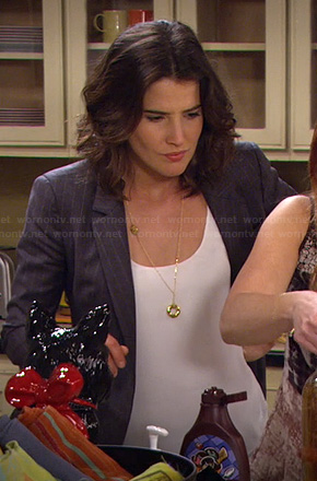 Robin's grey pinstripe blazer on HIMYM