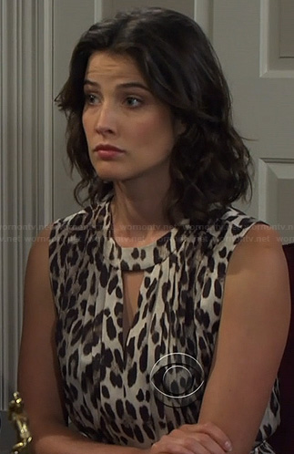 Robin's leopard print keyhole dress on How I Met Your Mother