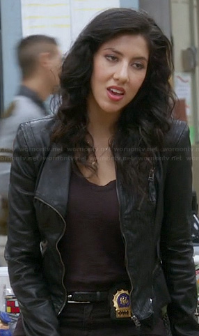 Rosa's black leather jacket on Brooklyn 99