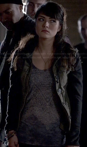 Sophie's green and black hoodie on The Originals