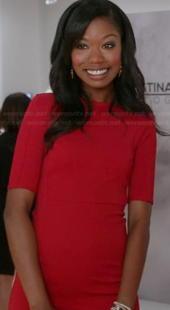 Tamra's red dress on The Mindy Project