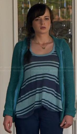 Jenna's blue striped tank top on Awkward