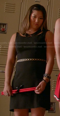 Tina's black collar cutout dress on Glee