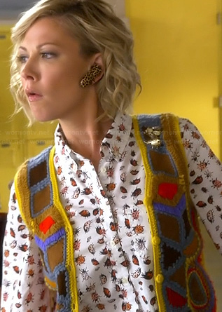 Valerie Marks's lady bug printed shirt on Awkward