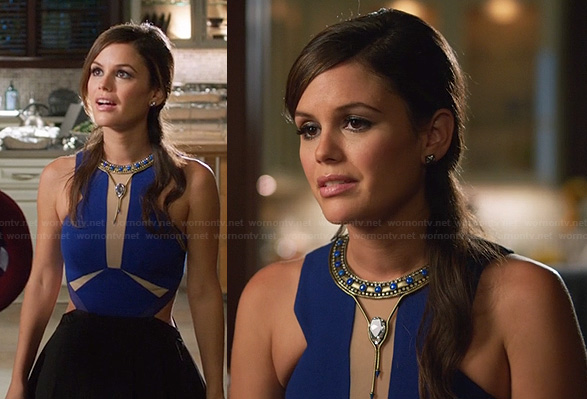 Zoe's blue colorblock cutout dress on Hart of Dixie