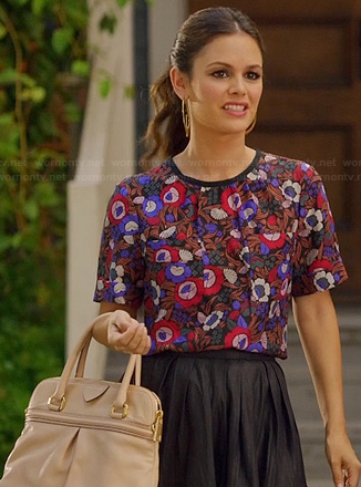 Zoe's purple and red floral print top on Hart of Dixie