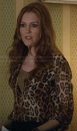 Abby's leopard print blouse on Scandal