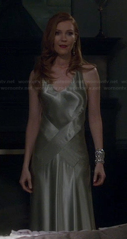 Abby's satin dress on Scandal