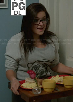 Alex's grey bear sweater on Modern Family