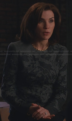 Alicia's grey and black jacket on The Good Wife