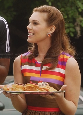 AnnaBeth's brown striped dress on Hart of dixie