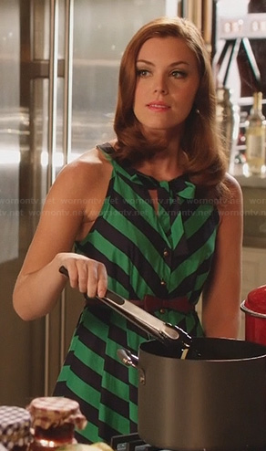 AnnaBeth's green and black striped dress on Hart of Dixie