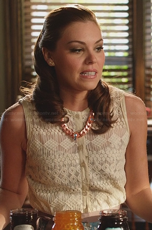 AnnaBeth's lace button front top on Hart of Dixie