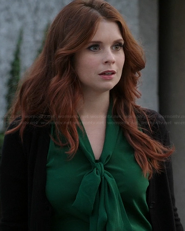 Ariel's green neck tie blouse on Once Upon a Time