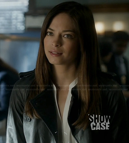 Cat's black leather trench coat on BATB