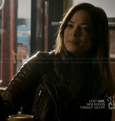 Cat's brown leather jacket on BATB
