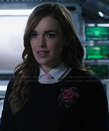 Jemma's flower sweater on Agents of SHIELD