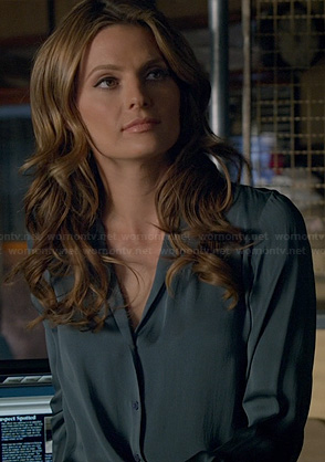 Beckett's blue silky blouse on Castle
