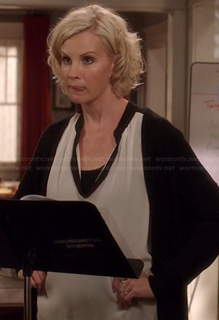 Kristina's white and black blouse on Parenthood