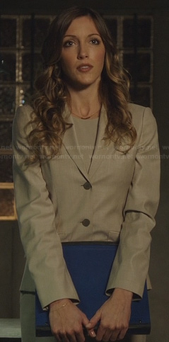 Laurel's beige blazer on Arrow