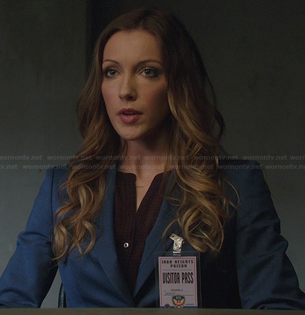 Laurel's blue blazer on Arrow
