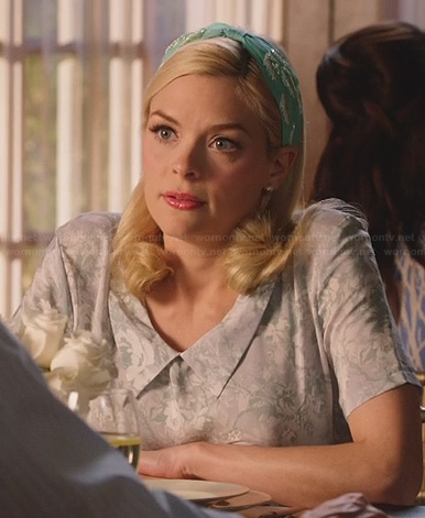 Lemon's grey floral collared dress on Hart of Dixie