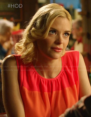 Lemon's pink and coral panelled dress on Hart of Dixie