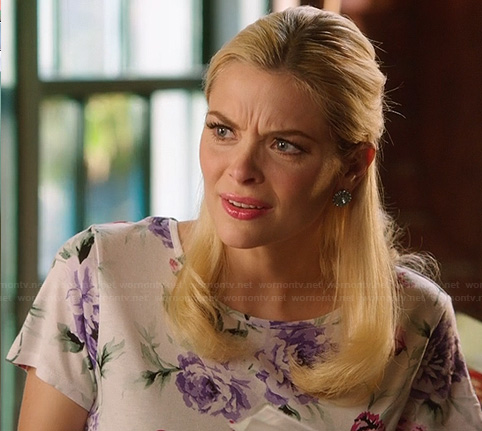 Lemon's white dress with purple flowers on Hart of Dixie