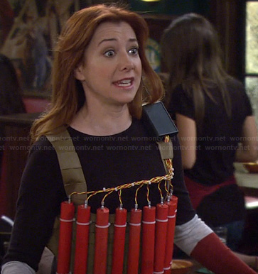 Lily's colorblock sweater on HIMYM