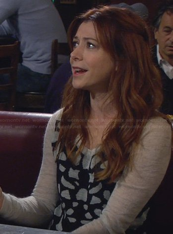Lily's leopard spot sweater on HIMYM