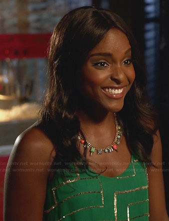 Lynly's green sequinned dress on Hart of Dixie