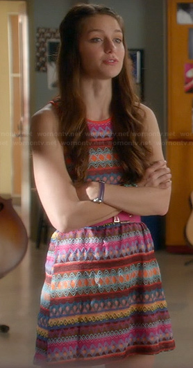 Marley's multi colored Embroidery dress on Glee