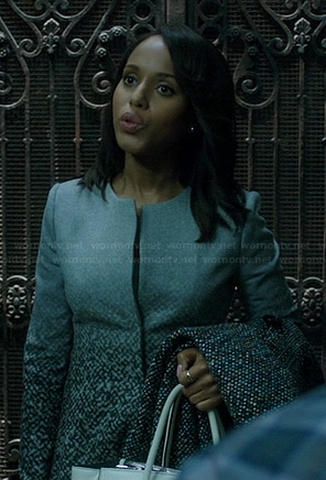 Olivia's grey graduated pattern jacket on Scandal